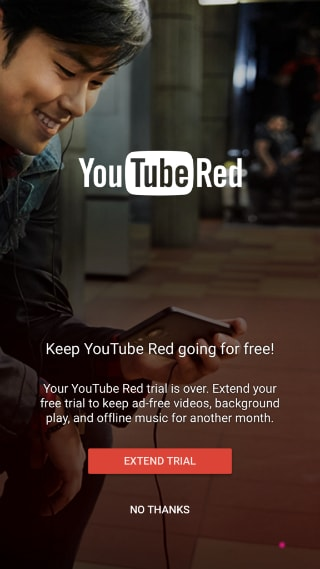 You can extend your YouTube Red trial, at least for a bit - Elias